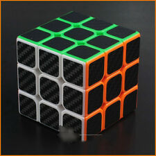 Magic cube stickerless 3x3x3 with black Carbon fiber sticker Speed 3x3 Puzzle