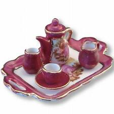Dollhouse Tea Set Red Lustre Limoges Style 13508 Reutter Miniature 1:12 gemjane