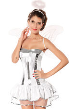 women Sexy cosplay dress 4pcs Angel Costume Free Shipping halloween Wings