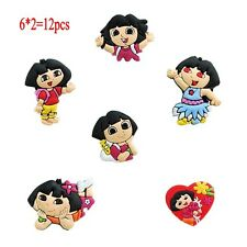 Dora Shoe Charms Bracelets Charm Decoration for /Croc/Jibbitz Child Gift 12pcs
