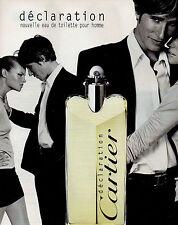 Publicité Advertising 1998  Parfum  déclaration CARTIER