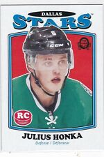 JULIUS HONKA 2016-17 16-17 OPC O-PEE-CHEE UPDATE MARQUEE RETRO RC #690 DALLAS