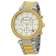Michael Kors MK5626 Parker Chronograph Champagne Dial Silver And Gold Tone Watch