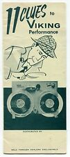 1957 VIKING Sales Brochure: Reel To Reel Tape Recorders