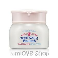 [Etude House] Pure Water Baobab Cream 60ml Baobob Water 17% Moist Cream