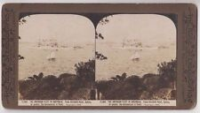 Real photo Rose stereograph American fleet ship Connecticut from Kirribilli