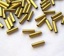 2x7mm Round Tube Spacer Tube Bead Raw Brass Bead Loose Findings t020 (100pcs)