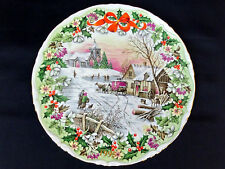ROYAL ALBERT COACHING INN AT CHRISTMAS DECORATIVE PLATE, 1st QUALITY, VGC, 1994