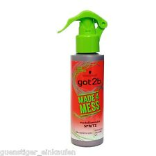 (33,27€/L) 150ml Schwarzkopf Got2b Made 4 Mess modellierendes Spritz for Style