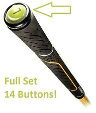 GripGlider Grip Glider Golf Club Identifier Button Set 14 Tabs and 20 Stickers