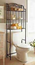 Bathroom Cabinet Over the Toilet Storage Rack Space Saver Shelf Organizer Bronze
