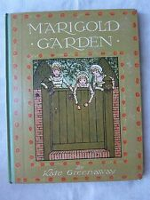 Old Children's Book Marigold Garden by Kate Greenaway Early 1900's GC