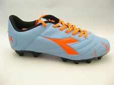 Diadora Mens Evoluzione R MG 14 Soccer Cleats 12 Blue Gray Red Multi Ground NEW