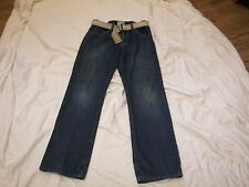 Boys Est. 1989 Jeans with Belt - Size 14 Semi-Evase (28 x 28)