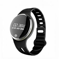 Wrist Sport Watch Smart Bluetooth Fitness Bracelet E07 for Android IOS Black