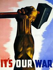 PROPAGANDA WAR HAMMER FIST FLAG FRANCE CANADIAN ART POSTER PRINT PICTURE LV7089
