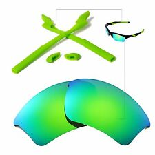 New WL Polarized Emerald Lenses And Rubber Kit For Oakley Half Jacket 2.0 XL