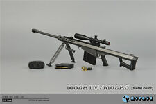 """ZY Toys 1/6 Black Barrett Sniper Rifle M82A1 Weapon Model Fit 12"""" Action Figure"""