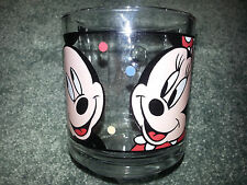 MICKEY MOUSE And MINNIE MOUSE Clear Glass COFFEE MUG Vintage DISNEY Collectible
