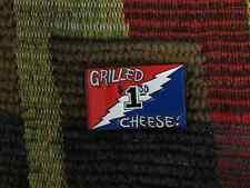 Dead Head Grilled Cheese Lightning Bolt Enamel Lapel Hat Pin