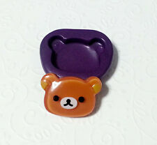Silicone Mold Bear Face Mold (28mm) - Resin Accessory Candy Chocolate Porcelain