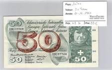 BILLET SUISSE 50 FRANCS - 21-12-1961