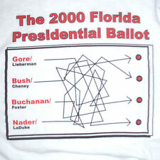 vtg 2000 Presidential Election T-Shirt XL Florida Ballot Bush v. Gore Vote Humor