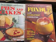 Lot of 6 vintage Better Homes and Garden Cookbooks lunches fondue pies - FLOT