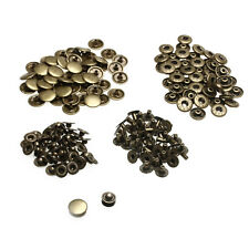 50pcs Metal Snap Fasteners Sewing Button Press Stud Bronze Vintage 15mm