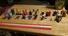 Digimon Yugioh maybe others  Mini Figure Lot OF 19 total Used Fast Shipping