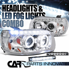 05-07 Ford Escape Chrome SMD Dual Halo Projector Headlights+6-LED Fog Lamps