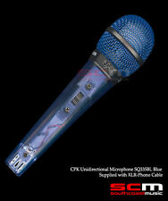 SQ335BL CPK UNIDIRECTIONAL MICROPHONE BLUE XLR to JACK MIC LEAD INC BRAND NEW