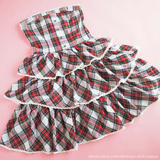 BODYLINE Lolita Dress Ruffle Tiered-layer Bare top Lace up SizeM Japan fashion
