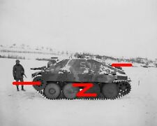 Hetzer with flamethrower & American solider probably in Ardennes (1)
