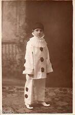 BJ033 Carte Photo vintage card RPPC Enfant déguisement Pierrot studio costume