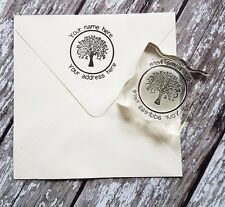 Custom Personalized business return address name tree rubber stamp