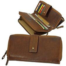 Branco Leder Damen-Geldbörse Portemonnaie Geldbeutel Wallet Purse cognac 79275