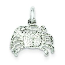 Sterling Silver Crab Charm Cancer Zodiac Sea Life