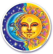 REFLECTIONS Sun Moon 2-Sided Window Sticker Decal Wiccan Pagan S27