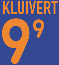 Holland Kluivert Nameset 2000 Shirt Soccer Number Letter Heat Print Football A