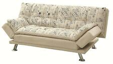 Coaster Furniture 300421 Kay Kay Sofa Bed Script Pattern Metal Legs