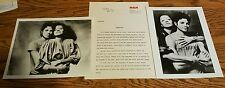 Michael Jackson/Diana Ross 1982 press release kit w/ 2 original glossy photos