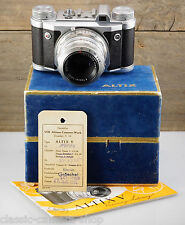 EHO ALTISSA camera ALTIX V with lens CARL ZEISS JENA TESSAR 50mm F/2.8 with BOX