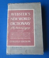 1955 Webster's New World Dictionary Of The American Language College Edition Vtg