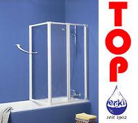 SCHULTE Komfort Badewannenfaltwand 3-teilig D1420 auch ohne Bohren