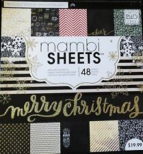 All That Glitters 12x12 Merry Christmas Specialty Cardstock Paper Pack by MAMBI