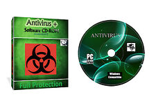 Antivirus Security Spyware Data Protection Software CD For All Windows