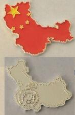 Unusual 2013 Somalia color $1 Map-shaped China/Flag-
