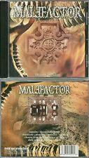 RARE / CD - MALEFACTOR : DEATH FALLS SILENT / HEAVY METAL / HARD ROCK