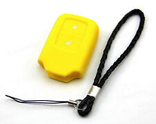 Yellow Silicone Case Cover For Honda Fit Odyssey Vezel Remote Smart Key 2 Button
